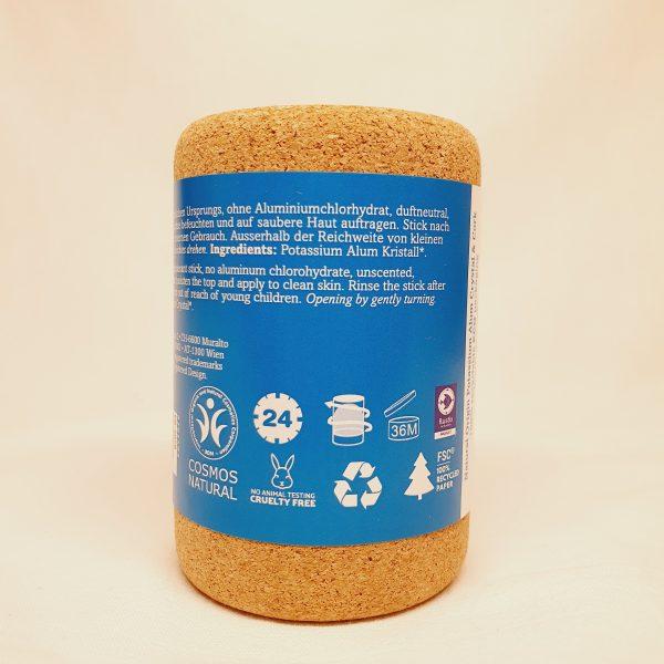 Biork krystalldeodorant - plastfri deodorant i kork - bak