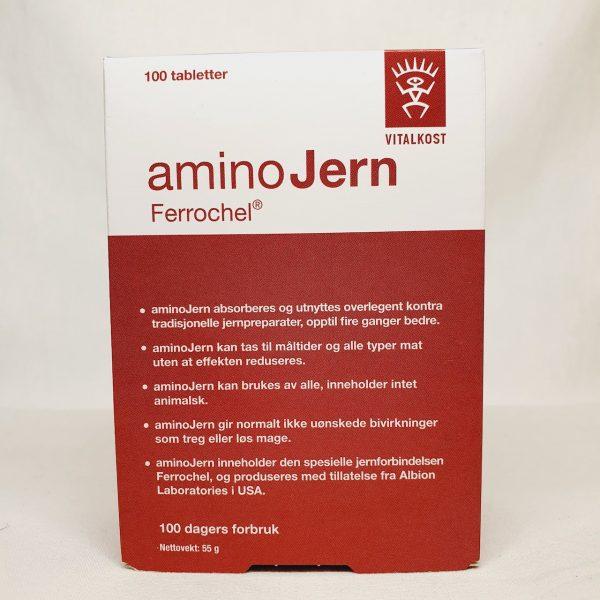 Jerntabletter - Bygge opp jernlager med AminoJern Ferrochel - Jernmangel - Forside