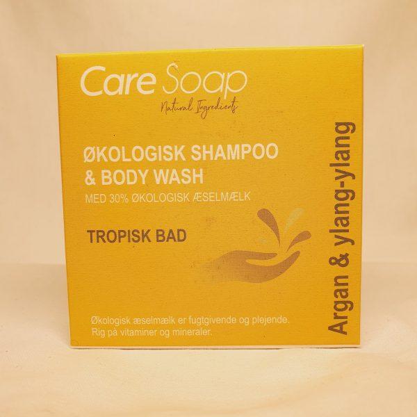 Care Soap - Økologisk shampoo og body wash - Tropisk Bad - foran