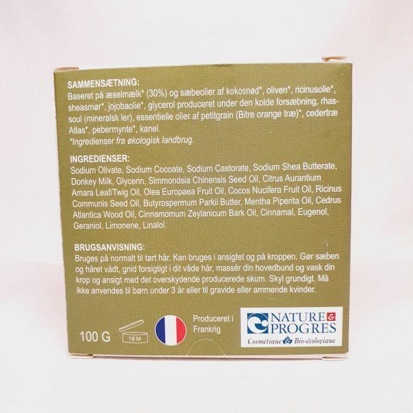 Care Soap - Zero waste og plastfri sjampobar - mineralskleire og jojoba - bak