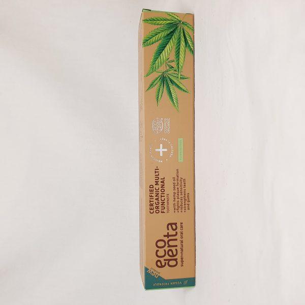 Eco Denta - organisk tannkrem for voksne - hemp - foran