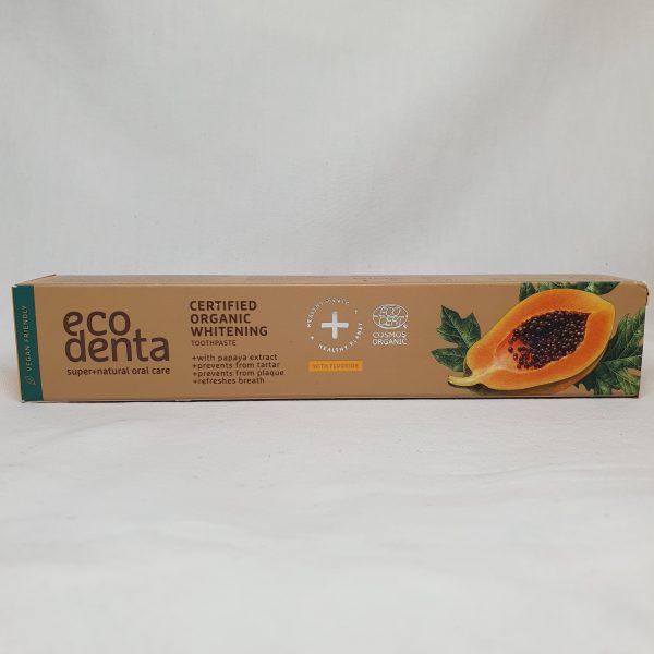 Eco Denta - organisk tannkrem for voksne - papaja - foran