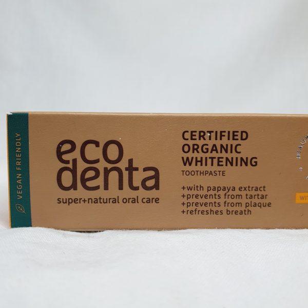 Eco Denta - organisk tannkrem for voksne - spirulina - zoom in