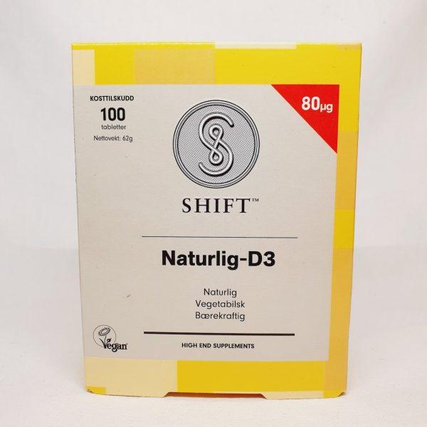 Naturlig og vegansk vitamin D3 fra Shift - Forsiden