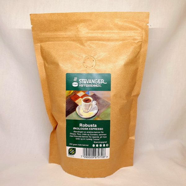 Økologiske espresso kaffebønner - Robusta - blanding av arabica-bønner - Kaffebønner espresso - Forsiden