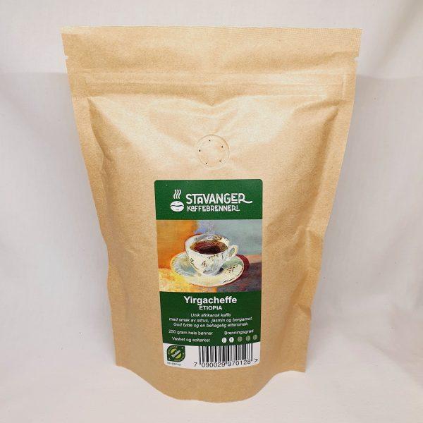 Hele kaffebønner som også er økologiske Yirgacheffe fra Etiopia - Kaffebønner - Forsiden