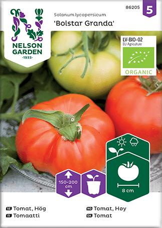 Økologiske tomatfrø Tomat, Bolstar Granda, Organic