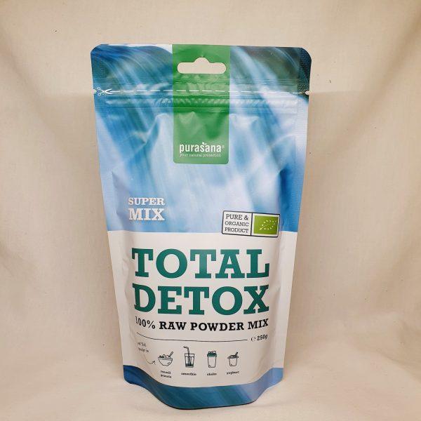 Organisk superfoods Total Detox pulver mix fra Purasana - forsiden