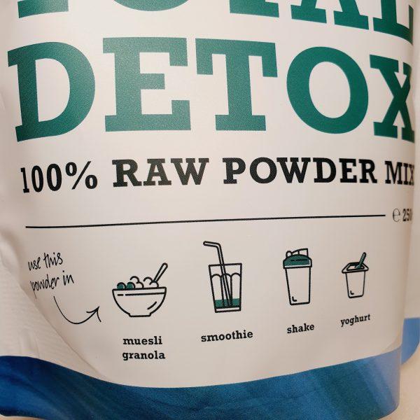 Organisk superfoods Total Detox pulver mix fra Purasana - forsiden zoom in