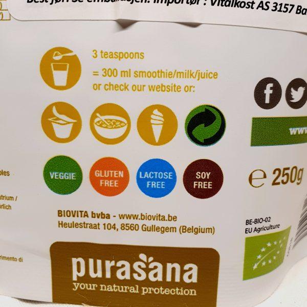 Organisk superfoods pollen fra bier pulver fra Purasana - forsiden zoom in