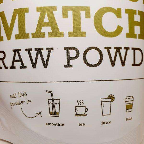 Organisk superfoods premium matcha pulver fra Purasana - forsiden. zoom in