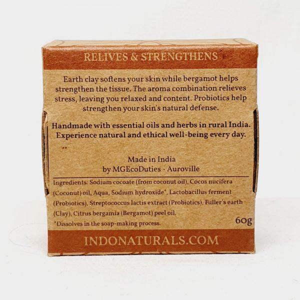 Etisk og vegansk kroppssåpe til kroppsvask Earth Spa - fra Indo Naturals - Bakside