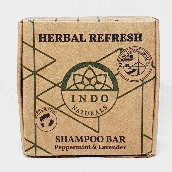 Etisk og vegansk sjampobar Herbal Refresh fra Indo Naturals - Forside
