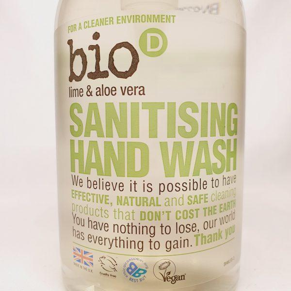Miljøvennlig og økologisk håndsåpe fra Bio D - Vegansk, mild og biologisk nedbrytbar - Forsiden zoom inn 1