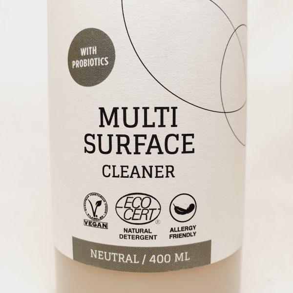 Multisurface rengjøringsspray til vask av alle overflater - Byoms rengjøringsmiddel med probiotika - miljøvennlig og økologisk - forsiden zoom inn