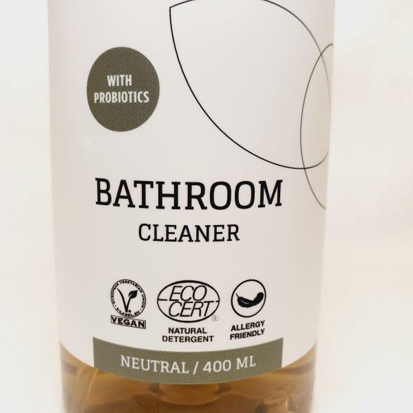 Vaske fliser bad og rengjøring av bad med Byoms rengjøringsmiddel med probiotika - miljøvennlig og økologisk - forside zoom inn