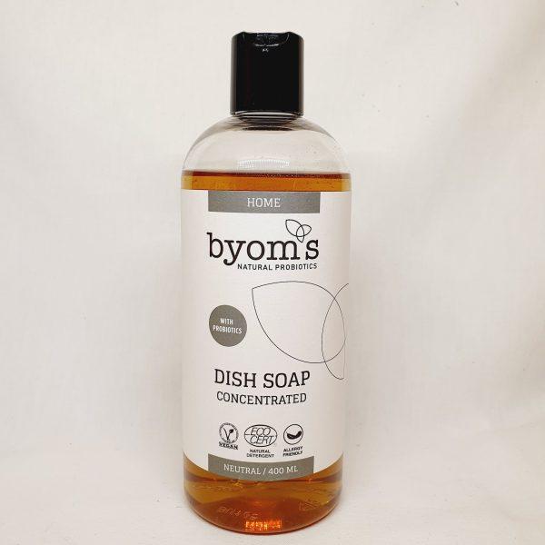 økologisk oppvaskemiddel med probiotika fra Byoms - levende bakteria - miljøvennlig oppvaskemiddel - forsiden
