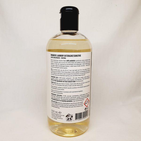 økologisk vaskemiddel med probiotika fra Byoms - levende bakteria - miljøvennlig vaskemiddel - baksiden