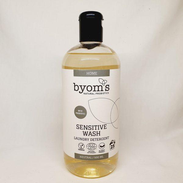 økologisk vaskemiddel med probiotika fra Byoms - levende bakteria - miljøvennlig vaskemiddel - forsiden
