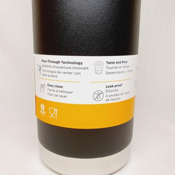 Klean Kanteen TKPro 750ml - 100% plastfri termos med krus - Baksiden