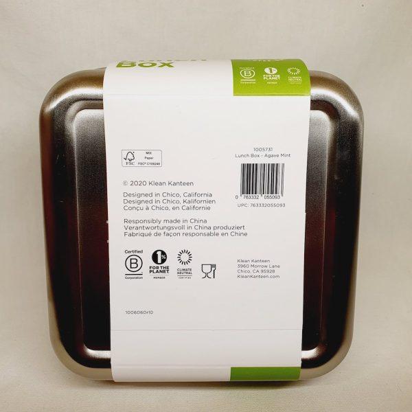 Lunsjboks - Matboks fra Klean Kanteen 591 ml - Bakside