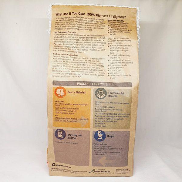 Miljøvennlige tennbriketter fra If You Care - Bakside