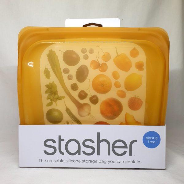Stasher bag sandwich 450 ml - Honey - Forside