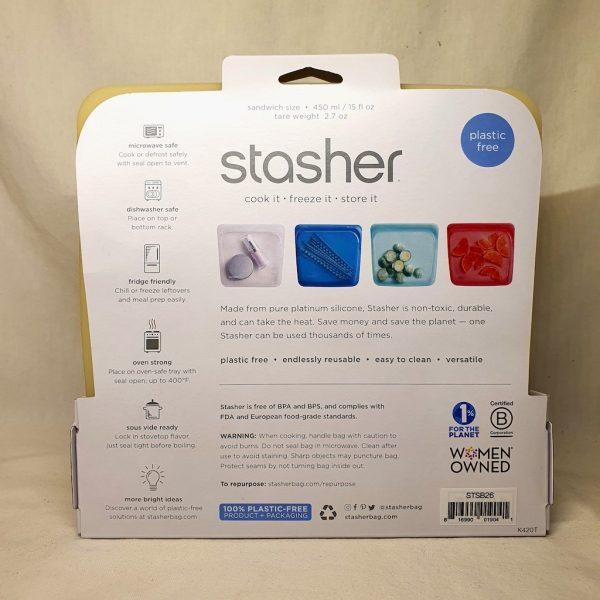 Stasher silikonpose 450 ml - Stasher bag pineapple - Bakside