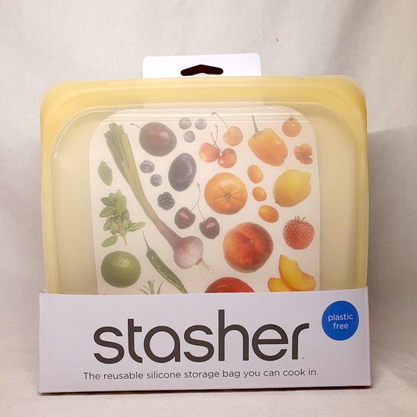 Stasher silikonpose 450 ml - Stasher bag pineapple - Forside