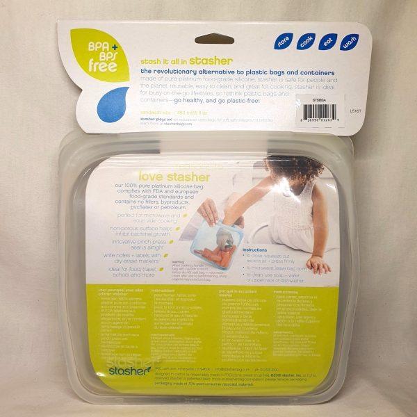 Stasher silikonpose Sandwich Space Animals 450 ml - Bakside