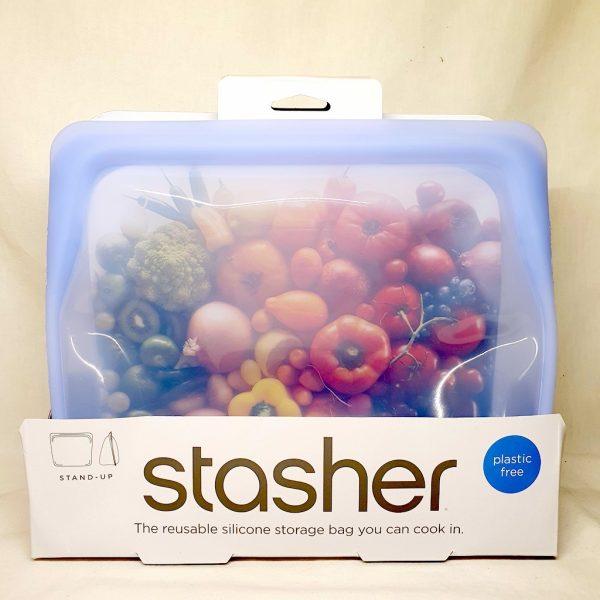 Stasher silikonpose stand up amethyst 1.6 liter - Forside
