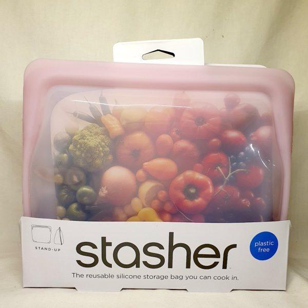 Stasher silikonpose stand up rosa quartz 1.6 liter - Forside