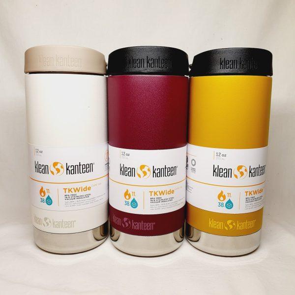 Stilig termokopp - Klean Kanteen TKWide 355 ml - Tofu, Purple potion, Marigold