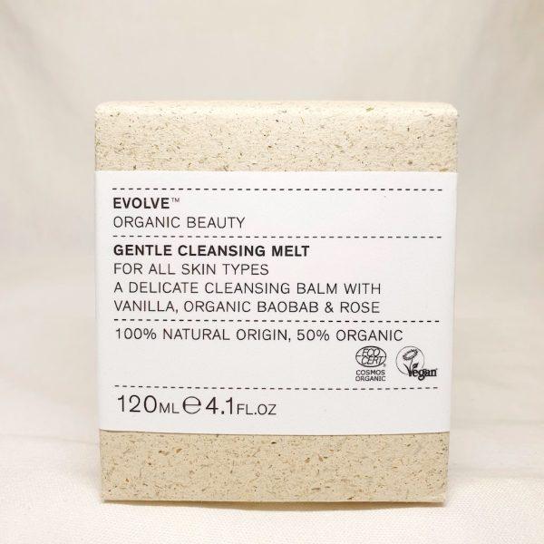 EVOLVE Gentle Cleansing Melt - Ansiktsrens med økologisk resenbalm - i boks - Forsiden